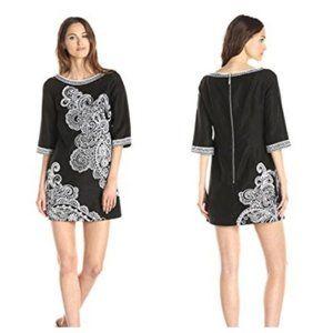 Nanette Lepore 4 Linen Embroidered Dress
